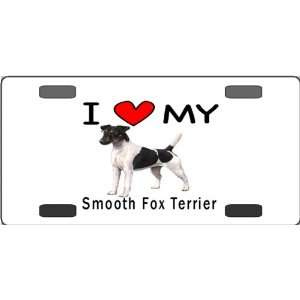 I Love My Smooth Fox Terrier Vanity License Plate
