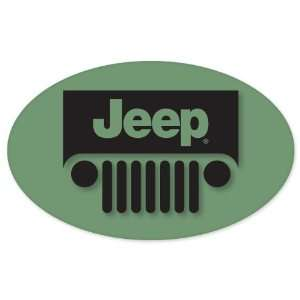 Jeep Wrangler logo oval vynil car sticker window decal 5