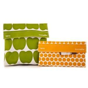 in Green Apple) and Snack Bag (in Mango Polka Dot)