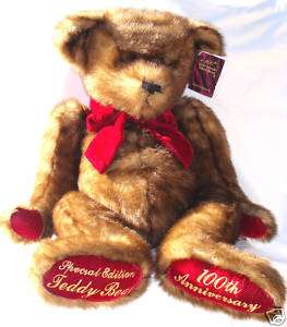 SPECIAL EDITION TEDDY BEAR 100TH ANNIV. CAPOZZI FOR DANDEE 2001