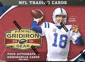 2010 PANINI GRIDIRON GEAR SEALED FOOTBALL HOBBY BOX
