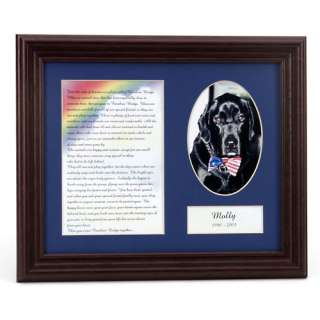 Forever Friend Pet Rainbow Bridge Memorial Frame Personalized Gifts