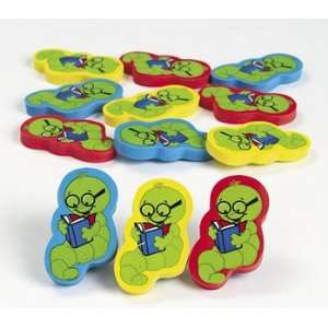 Bookworm Erasers   Basic School Supplies & Erasers & Pencil