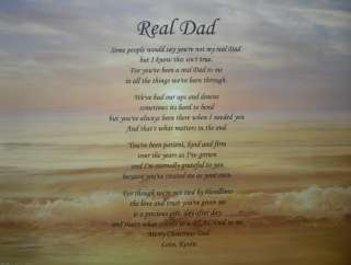 PERSONALIZED STEP DAD POEM BIRTHDAY, FATHERS DAY OR CHRISTMAS GIFT