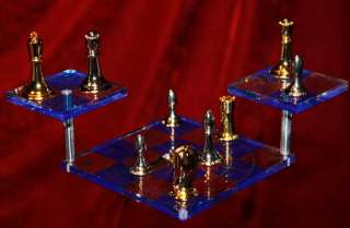 STAR TREK CHESS SET, William Shatner & Leonard Nimoy Signed AUTOGRAPH
