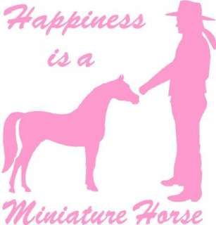 Happiness is Miniature(mini) Horse Sticker/Decal Girl