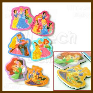Disney Princess Refrigerator Fridge Magnet (6pc)