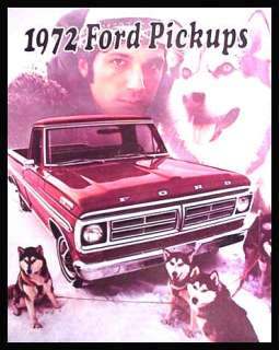 1972 Ford Pickup Truck Brochure Custom Ranger Ranchero